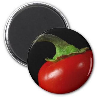 Red chilli 6 cm round magnet
