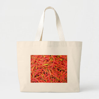 Red Chilli Pattern Large Tote Bag