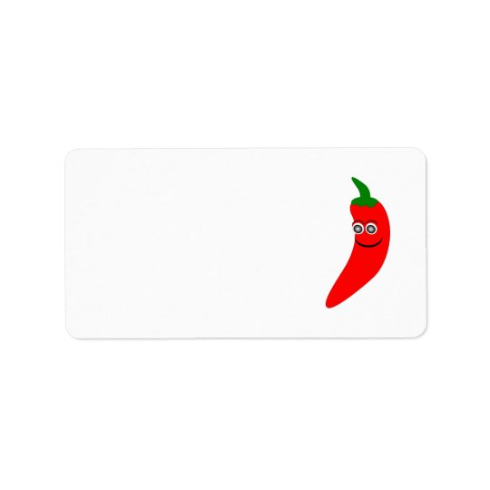 Red Chilli Pepper Address Label