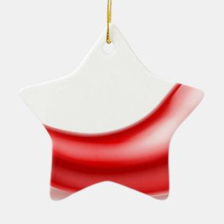 Red Chilli Pepper Ceramic Star Decoration