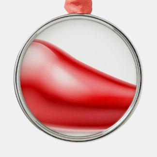 Red Chilli Pepper Illustration Christmas Ornament