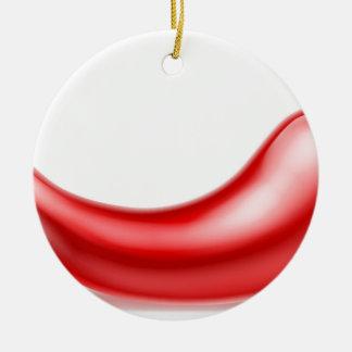 Red Chilli Pepper Round Ceramic Decoration