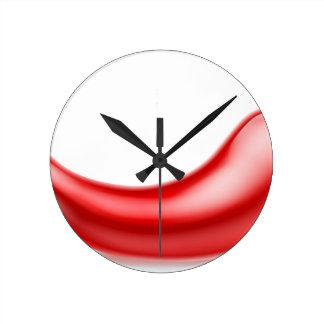 Red Chilli Pepper Round Clock