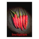 Red Chilli Peppers Invitation 13 Cm X 18 Cm Invitation Card