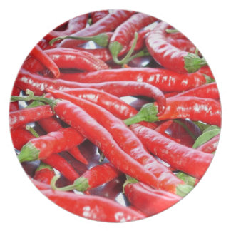 Red Chilli Peppers Plate