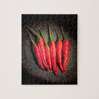 Red Chilli Peppers Puzzle/Jigsaw with Tin Jigsaw Puzzle