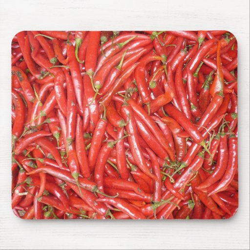 red chillies mouse pad