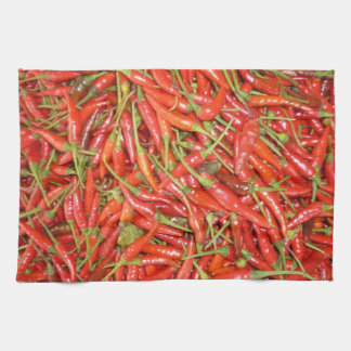 red chillies tea towel