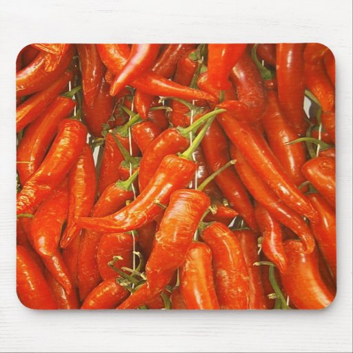 red chillis on strings mousepad