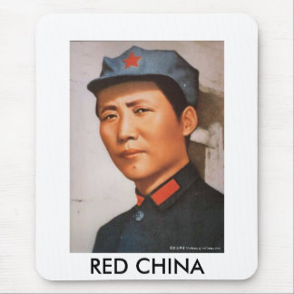 RED CHINA MOUSE PAD