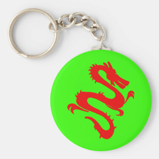 Red Chinese Dragon Keychain