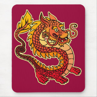 Red Chinese Dragon Mousepad