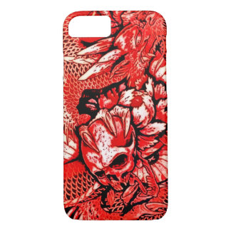 Red Chinese Dragon Skull iPhone 7 Case