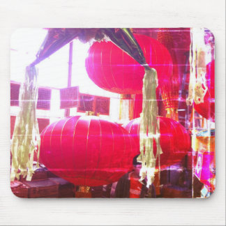 Red Chinese lanterns Mouse Pad