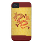 Red Chinese Year of the Dragon Case-Mate iPhone 4 Case