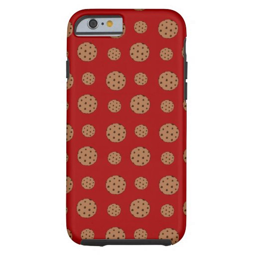 Red chocolate chip cookies pattern iPhone 6 case