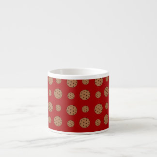 Red chocolate chip cookies pattern espresso mug