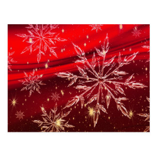 Red Christmas Background Postcard