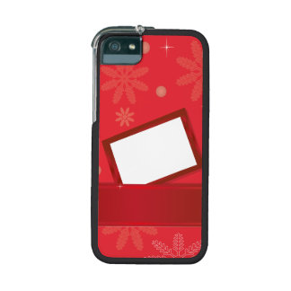 red christmas background with greeting card iPhone 5 covers