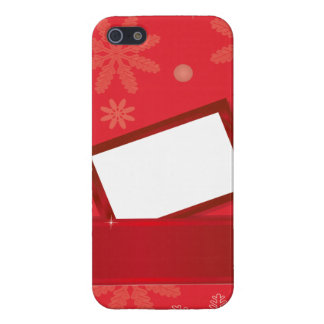 red christmas background with greeting card case for iPhone 5