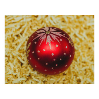 Red Christmas bauble 21.5 Cm X 28 Cm Flyer