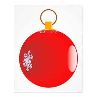 Red Christmas Bauble Flyer. 21.5 Cm X 28 Cm Flyer