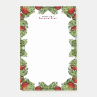 Red Christmas Baubles   Merry Christmas Post-it Notes