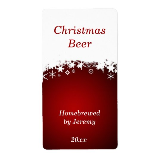 Red Christmas Beer Label