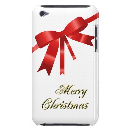 Red Christmas Bow iPod Touch Cover