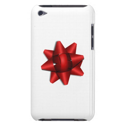 Red Christmas Bow iPod Touch Cases