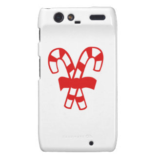 Red Christmas Candy Canes Droid RAZR Cover