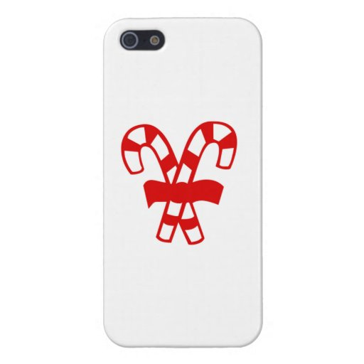 Red Christmas Candy Canes iPhone 5 Cases