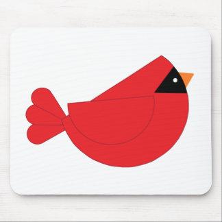 Red Christmas Cardinal Bird Mouse Pads