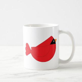Red Christmas Cardinal Bird Mug