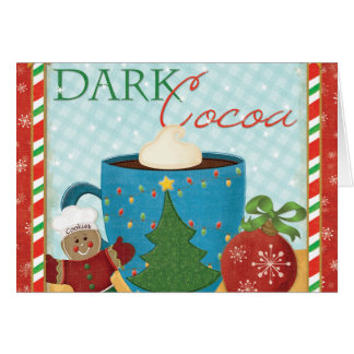 Red Christmas Cup with Creamy Cocoa Card