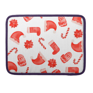 Red Christmas Cute Pattern Holiday Sleeve For MacBooks