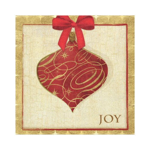 Red Christmas Decoration Peace Stretched Canvas Prints