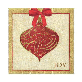 Red Christmas Decoration Peace Canvas Print