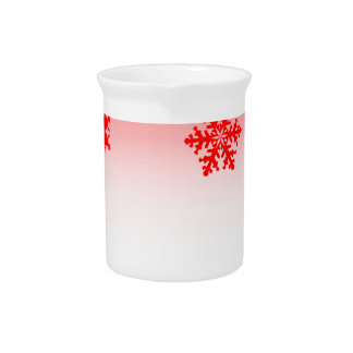 Red Christmas Decorations Pitcher