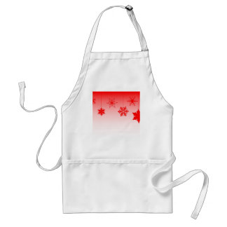 Red Christmas Decorations Standard Apron