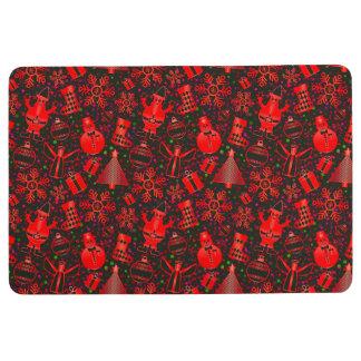 Red Christmas Floor Mat