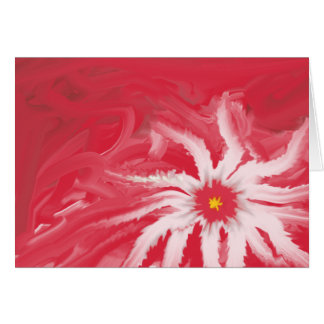 Red Christmas Flower Card