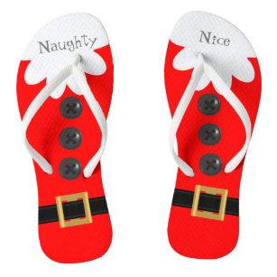 fdfb579ea2aa1 Red Christmas in July Custom Festive Flip Flops