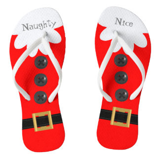 Red Christmas in July Custom Festive Flip Flops
