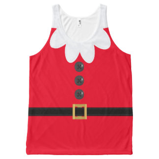 Red Christmas in July Elf Novelty XL Tank Top All-Over Print Tank Top