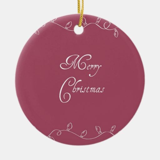 Red Christmas Lights Round Ornament