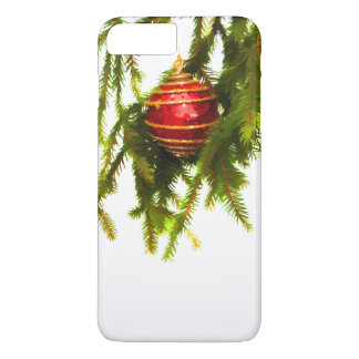 Red Christmas ornament on a Christmas tree iPhone 8 Plus/7 Plus Case