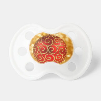Red Christmas Ornament Pacifier