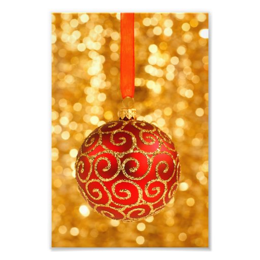 Red Christmas Ornament Photo Art