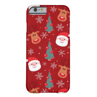 Red Christmas pattern Barely There iPhone 6 Case